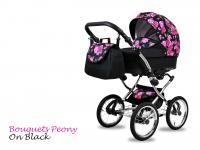 BabyMove Margarita Chrome Bouquets Peony on Black