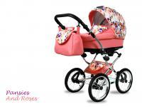 BabyMove Margarita Chrome Pansies and Roses