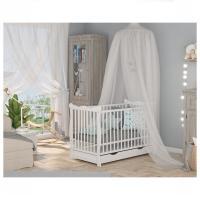 Bobas babaágy/heverő+ágyneműtartó JULIANA fehér