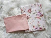 Handmade 2-részes ágyneműhuzat virágmintás