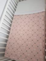 Handmade nyári takaró rózsaszín - szivecskék